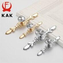 KAK Luxury Diamond Crystal Handles Shoebox Cabinet Handles Closet Dresser Drawer Knobs Wardrobe Pulls Pullers Furniture Hardware