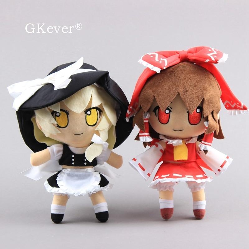 28 Cm Anime Kirisame Marisa Hakurei Reimu Plush Toys Doll Peluche New Arrivals Japan Cartoon Stuffed Toy Women Kids Gift