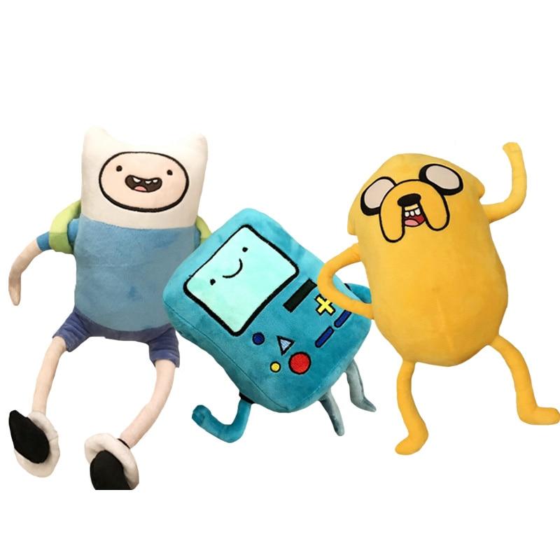 28-42cm Adventure Time Plush Toys Finn Jake BMO Soft Stuffed Animal Dolls Party Supplies Children Birthday Or Christmas Gifts