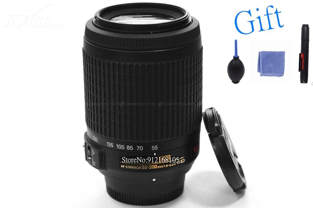 Б/у Nikon 55-200 мм f/4-5,6G ED IF AF-S DX VR Nikkor объектив с переменным фокусным расстоянием [подавляющая вибрации]