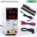 Mini Verstelbare Digital DC voeding 30V 10A Laboratorium Schakelende voeding 110 v/220 v K3010D Met siliconen Test Probe