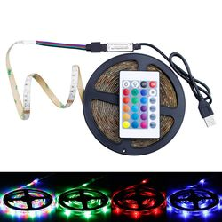 2835 Chip LED Flexible Ribbon DC 5V RGB Light Strip 16 Colors LED Diode Tape For Indoor Decoration Lamp Waterproof RGB Strips
