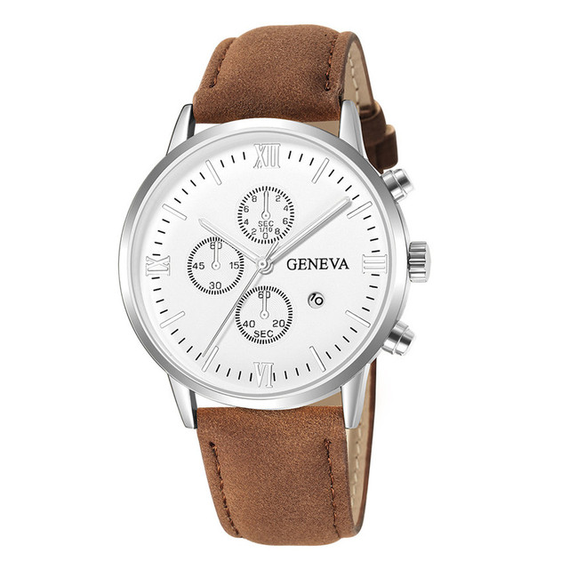 Geneva Synthetic Leather Analog Quartz Sport Watch 6