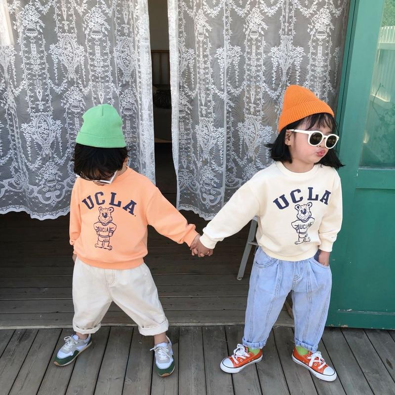 MILANCEL 2020 New Kids Sweathirts Cartoon Style Boys Hoodies Fashion Cotton Girs Clothing