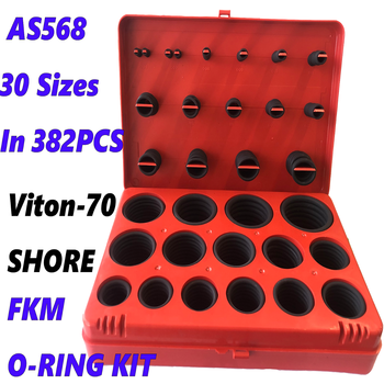 FKM O-Ring kit as568 Inch RUBBER 30 Sizes In 382 PCS RUBBER Seal O RING ASSORTMENT O-RING BOX O-RING KIT kit 419pcs o ring o ring black rubber 32 sizes with case 3 50mm