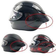 Funda trasera para casco de motocicleta, aspecto de carbono, Alerón, AGV, Pista, GP, RR
