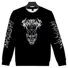 Erkek/bayan moda o-boyun giysileri yuvarlak boyun kazak Metal 2020 yeni Rap tarzı Ghostemane dünya turu Rock müzik Logo 3D baskı