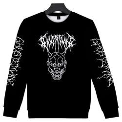 Men/women Fashion O-neck Clothes Round Neck Sweatshirt Metal 2020 New Rap Style Ghostemane World Tour Rock Music Logo 3D Print