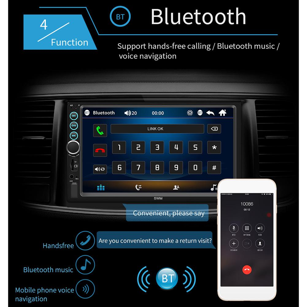 Car-Player Radio Ios-System Touch-Screen Stereo Android 2-Din Image-Connection Bluetooth