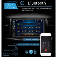 7 2 DIN MP5 Car Player Bluetooth Touch Screen Stereo Radio Camera Supports Android IOS System Image Connection