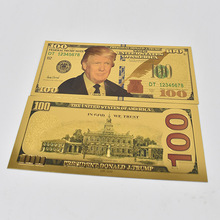 Banknote 100 USD Dollar Gold President Donald Trump America Set Plated Banknotes Foil Bill