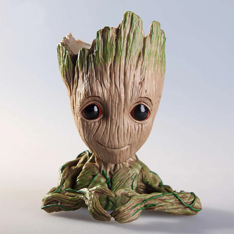 Tree Man Baby Anime Action Figure Dolls Penholder Guardians Of The  2 Model Hero Creative Pen Pot And Flower Pot Toys Groot