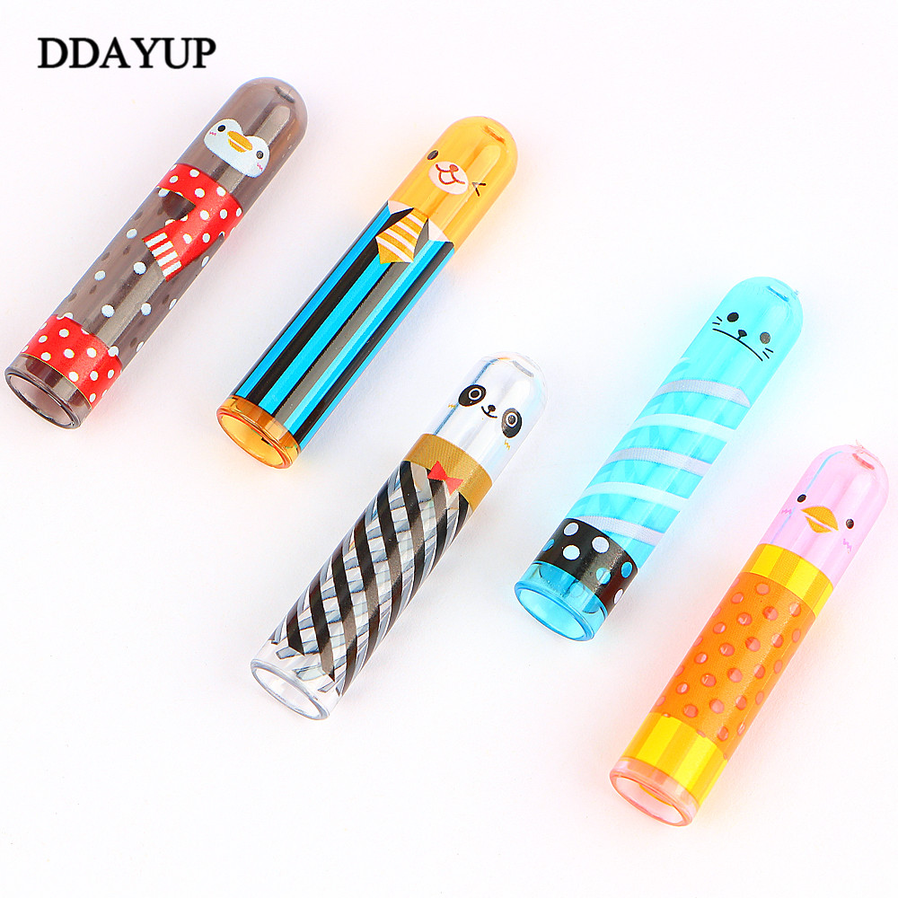 5Pcs/set Cute Animal Pencil Lengthen Extender Holder Portable Pencil Extender for Office School Stationery