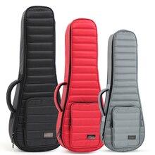 Ukulele Hard Box Case Bag 21 23 24 26 Inches Soprano Concert Tenor Ukelele Gray Guitar Accessories Parts Gig Sponge Waterproof