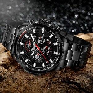 Image 3 - FORSINING Automatic Mechanical Men Wristwatch Military Sport Male Clock Top Brand Luxury Full Steel Waterproof Man Watch 6909