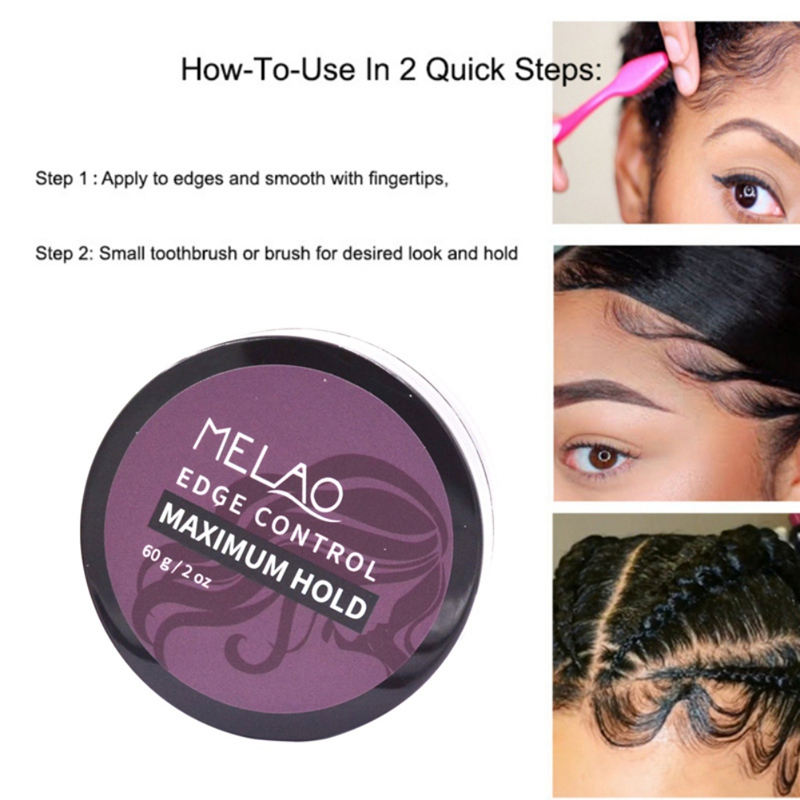 60ml non gras cassé cheveux crème de finition longue durée cire coiffante fixation rapide Gel cheveux