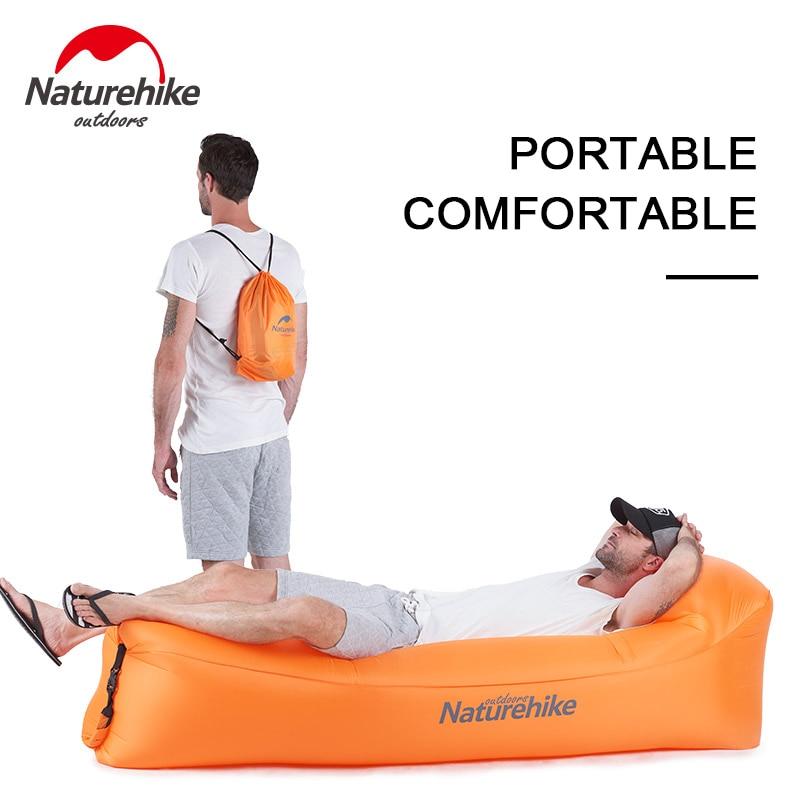 Naturehike Portable Inflatable Air Sofa Camping Sleep Air Bag Beach Sofa Foldable Lounger Leisure Lying Chair Lounge Nh18s030-s