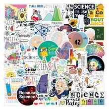 50 pçs ciência adesivo engraçado elemento físico educação adesivo para estudante diy computador portátil bagagem scrapbooking artigos de papelaria bicicleta f5