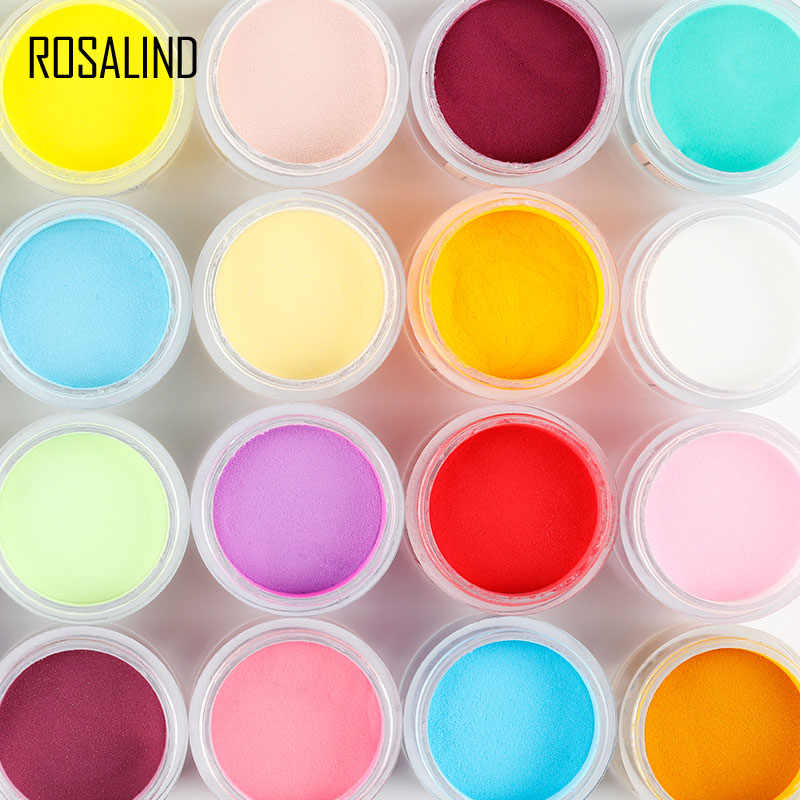 ROSALIND Dipping Powder Holographicฝุ่นเล็บตกแต่งศิลปะไม่มีหลอดไฟหาย10Gทั้งหมดสำหรับเล็บGlitterผง