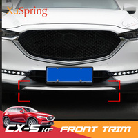 For Mazda CX5 CX 5 2017 2019 KF accessories Stainless steel car exterior front lip bumper cover strip trim Chromium Styling