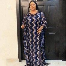 New African Fashion Maxi Vestito Per Le Donne 2020 Vestiti Africani Africano Paillettes Abito Sciolto Dashiki Tradizionale Vestito Lungo Della Signora