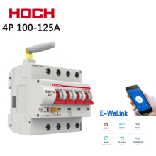 цена на HOCH New 4P Smart Home Wireless Remote Control 100A/125A Timing Switch Automatic Lock Intelligent Reclosing WIFI Circuit Breaker