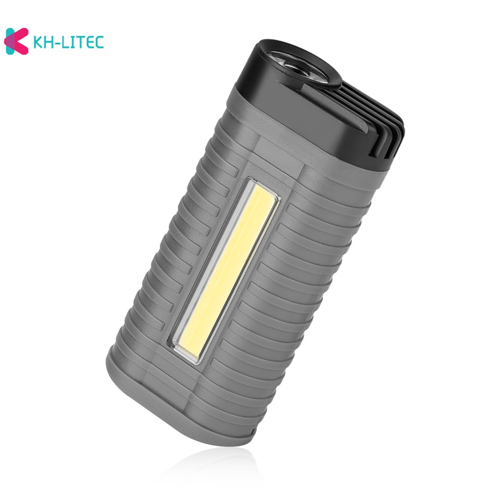 H013a0233932b46e48a2f751098052bc64 - Mini 2 Modes led work light Portable Light by 3*AAA Battery COB LED Flashlight Torch for Camping Hunting Outdoor
