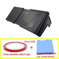 Bezpłatny prezent taśma ręcznik do mycia nawigacja samochodowa osłona przeciwsłoneczna GPS osłona przeciwsłoneczna do 7 12 cali uniwersalna samoprzylepna pokrywa na światła bariery w Stojaki GPS od Samochody i motocykle na