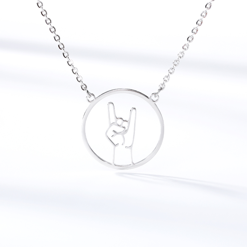 Generous Sweet Ballroom Gesture Necklaces Pandent Tiny Elegant Collier Love Necklace For Women Girls Graduation Party Gifts in Chain Necklaces from Jewelry Accessories