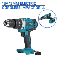 13mm 18V Electric Cordless Impact Drill 3 In 1 2-Speed Rechargable Electric Screwdriver Drill Li-Ion Battery For Makita Battery