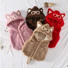 Новинка года; зимний меховой жилет для маленьких девочек с рисунком хвоста; 4 цвета на выбор; очень красивый