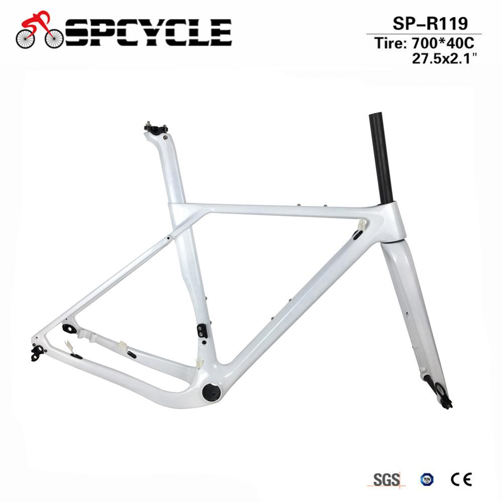 New Design Gravel Frame Carbon Gravel Bike Frame, Gravel Carbon Bicycle Frame, Cyclocross Frame Thru Axle 142x12mm or 135x9mm