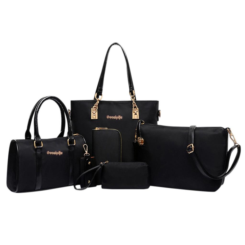 Two Women Handbag Set Nylon Top Handle Bag Totes Satchels Crossbody Shoulder Bags and Purse Clutch