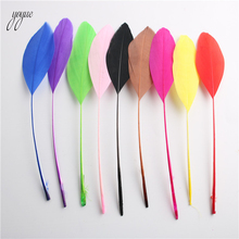 Wholesale 20pcs/lot Natural Colorful Goose Feathers For Crafts 13-18cm / 5-7 inches Headdress Jewelry Decor Accessories Plumas