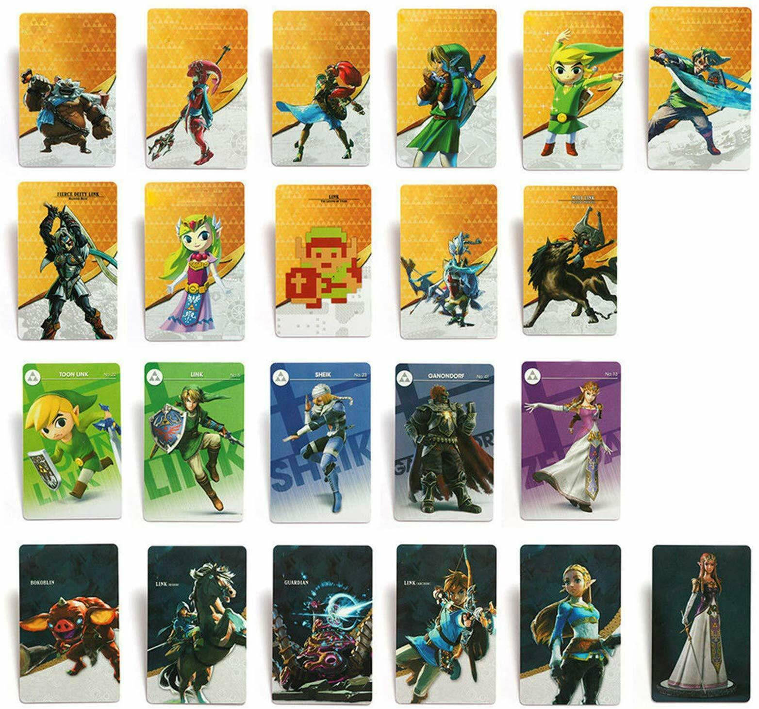 NFC Game Cards for Nintendo Switch & Wii U The Legend of Zelda BOTW Set of 24Pcs(China)