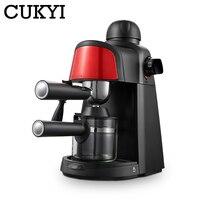 Cukyi 240ml 반자동 스팀 타입 에스프레소 커피 머신 압력 릴리프 보호 일시 중지 기능 커피 밀크 폼 메이커