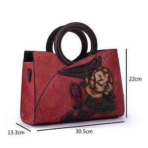 Image 5 - Johnature Retro Handmade Genuine Leather Women Handbag 2020 New Casual Tote Large Capacity High Quality Shoulder&crossbody Bags