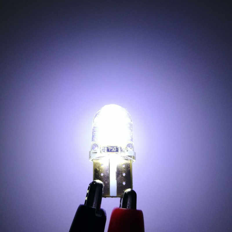10 Pcs 12 V Lampada Lampu 194 168 W5W T10 LED Mobil Lampu Sinyal Parkir Bulb Auto Rem Sinyal Giliran clearance Lampu 1W T10-018