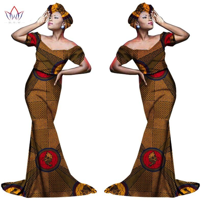 Африканский хлопчатобумажный материал Платья Для Женщин Дашики традиционная Анкара Мода Африка одежда с коротким рукавом Анкара платья WY963 - Цвет: 11