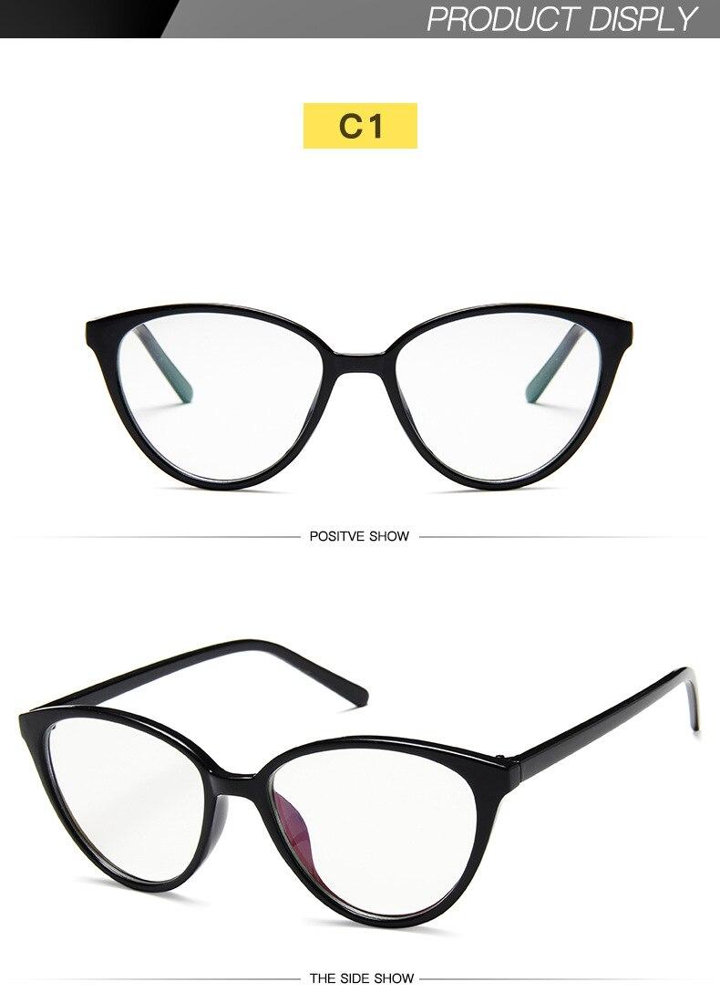 New Retro Cat Eye Women Glasses Frame Anti Blue Light Lady Eyeglasses Frame myopia Vintage Clear Glasses Optical Spectacle Frame (6)