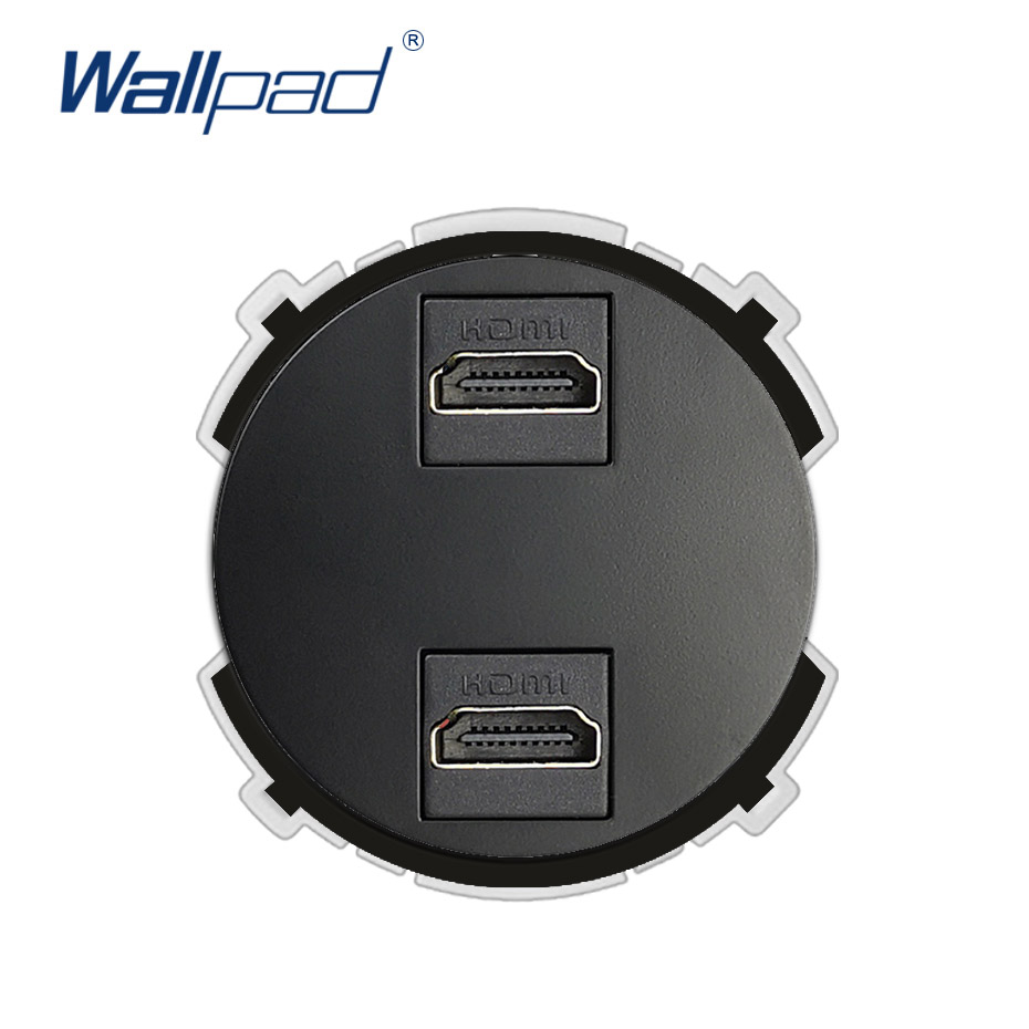 Wallpad 2 HDMI Wall Socket Function Key Only For Data Transmission Free Combination