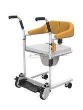 Cuidados idosos multifuncional cadeira de rodas carrinho de criança estável paciente movimento máquina wc cadeiras de banho rolamento 120kg