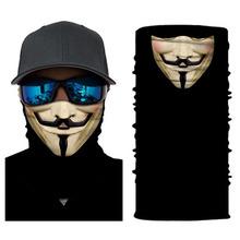 Film V dla Vendetta piesze wycieczki szalik Clown czaszka bezszwowa kominiarka Joker maska szalik dla wędkarza ocieplacz na szyję jazda na rowerze magiczna Bandana tanie tanio CN (pochodzenie) Poliester Dla dorosłych Bandany Nowość Drukuj LTH132