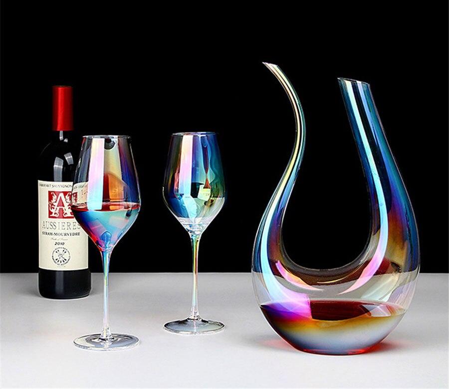 navio em forma de u decanters taça dupla terno wineware