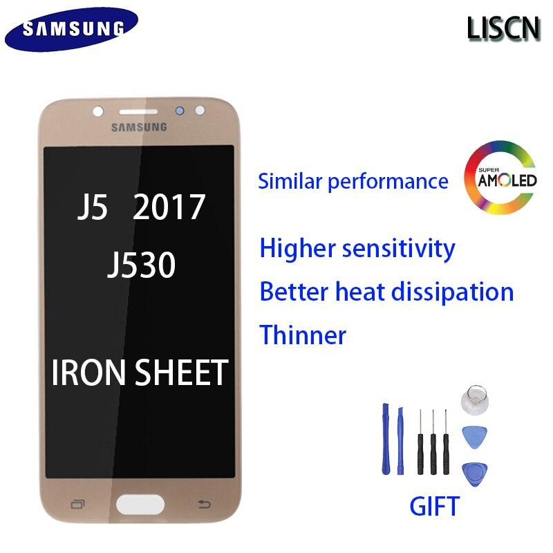 Оригинальный Для Samsung Galaxy J5 2017 j530 ЖК дисплей J530F производительность аналогичный AMOLED Железный дисплей кодирующий преобразователь сенсорного