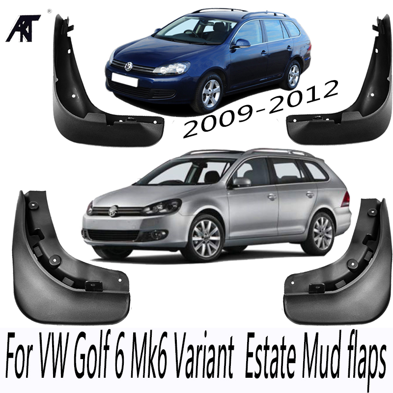 Mud Flaps For <font><b>VW</b></font> Jetta <font><b>Sportwagen</b></font> Golf 6 Mk6 Variant Wagon Estate 2009 - 2012 Mudflaps Splash Guards Front Rear Mudguard image