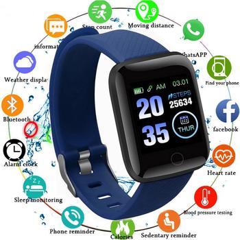 Bluetooth D13 montres intelligentes 116 Plus fréquence cardiaque sport bracelet intelligent étanche Smartwatch avec i7 ou i7s Tws écouteur