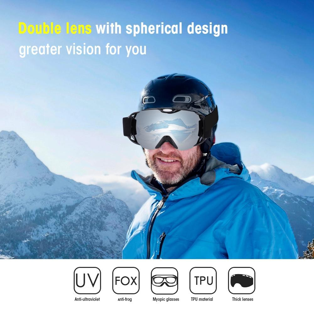 Ski Glasses Double Layer Anti-Fog Male And Female Ski Goggles Snowboard Snowboard Goggles Snow And Windproof Ski Mask Or Glasses
