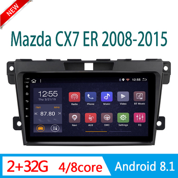 2GRAM car radio For mazda CX7 CX 7 ER 2008-2015 central DVD Player Multimedia stereo system am RDS WIFI 1din Android mirror link image