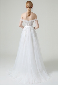 Image 4 - Beach Wedding Dresses Cap Sleeves Bridal Gowns Sweetheart Neckline Lace Vestido De Novia Illusion Mermaid Robe de Mariage
